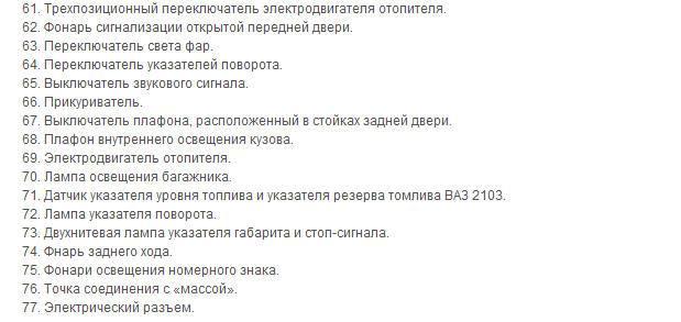 Электросхема ВАЗ-2103, 2106